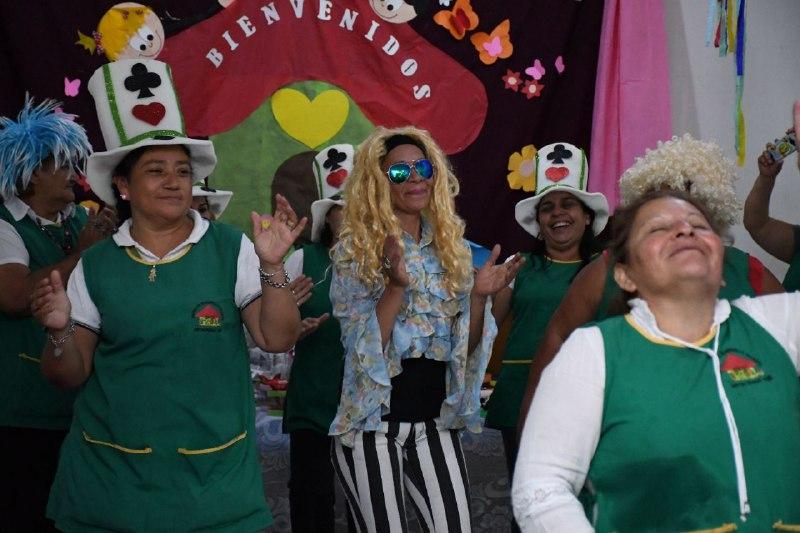 Los niños y padres del CDI del barrio Esperanza festejaron el Mes de la Familia