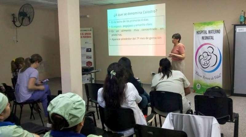 Salud realizó una capacitación sobre lactancia en el hospital Materno Neonatal