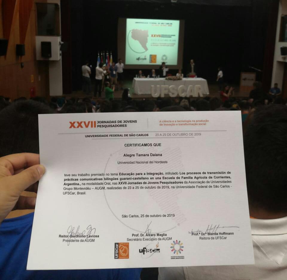Premian a cuatro jóvenes investigadoras de UNNE en encuentro internacional en Brasil