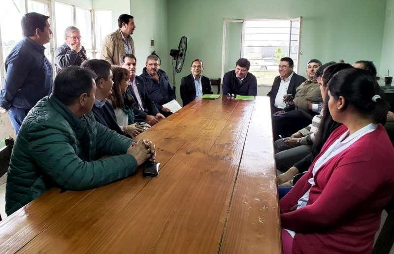 Cardozo firmó convenio de colaboración para asistencia sanitaria en el Parque Industrial de Santa Rosa