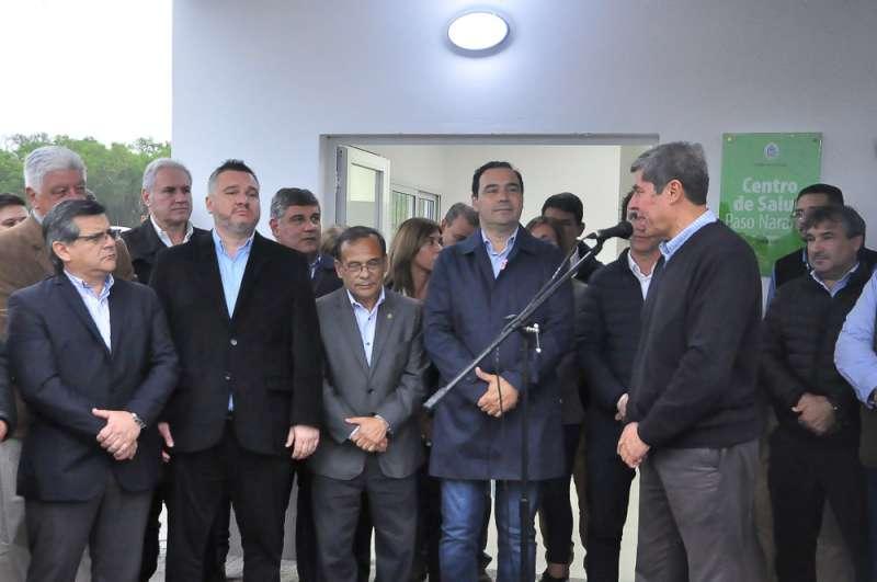 En su paso por Saladas, Valdés inauguró el 22° Centro de Ex Combatientes en Malvinas y refacciones en un CAPS