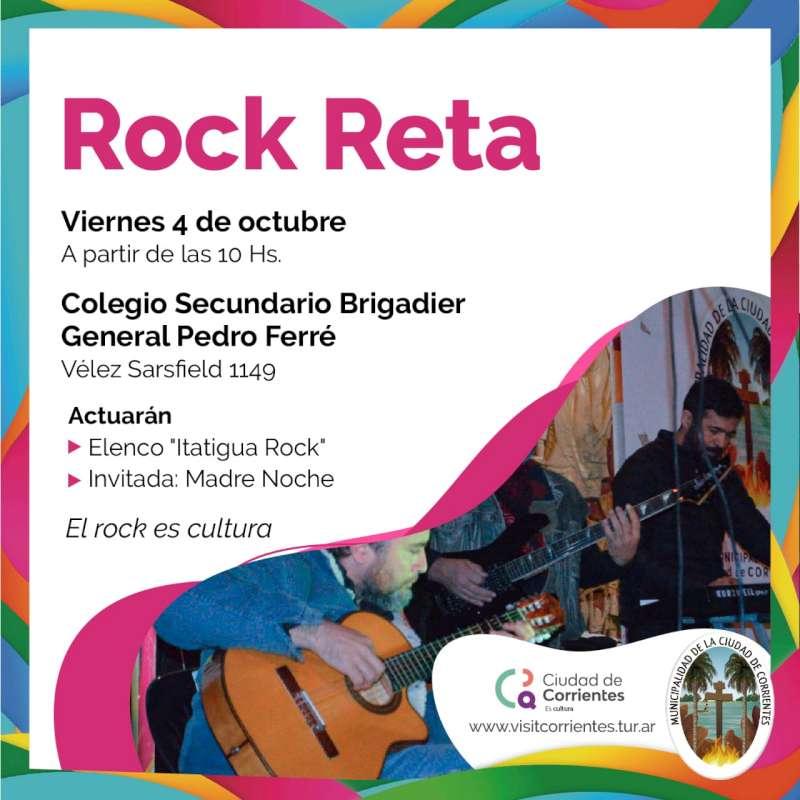 Rock Reta llega al Colegio Secundario Brigadier General Pedro Ferré