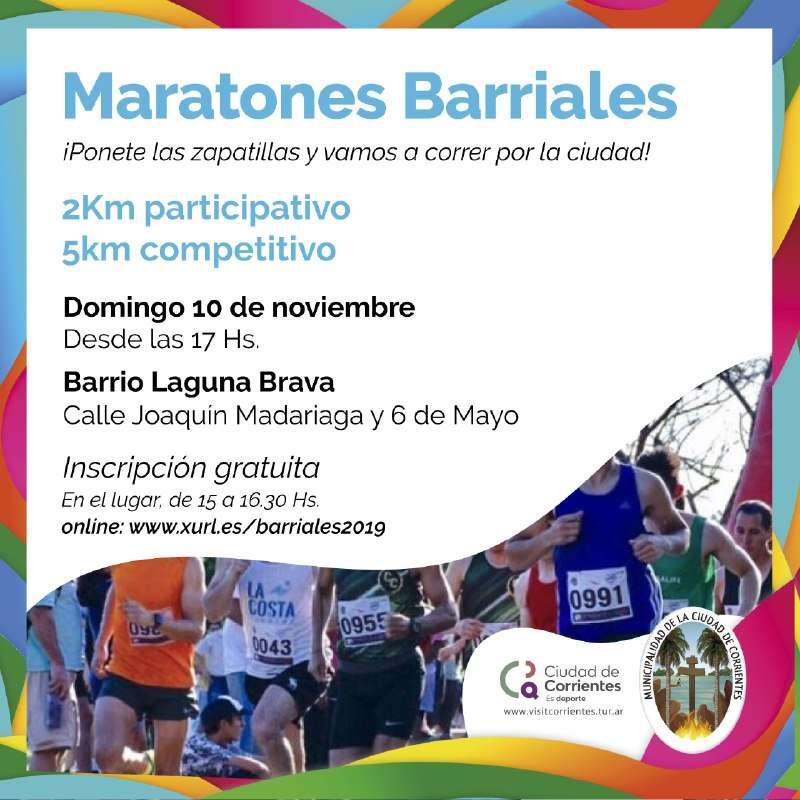 El barrio Laguna Brava será escenario de la próxima Maratón Barrial