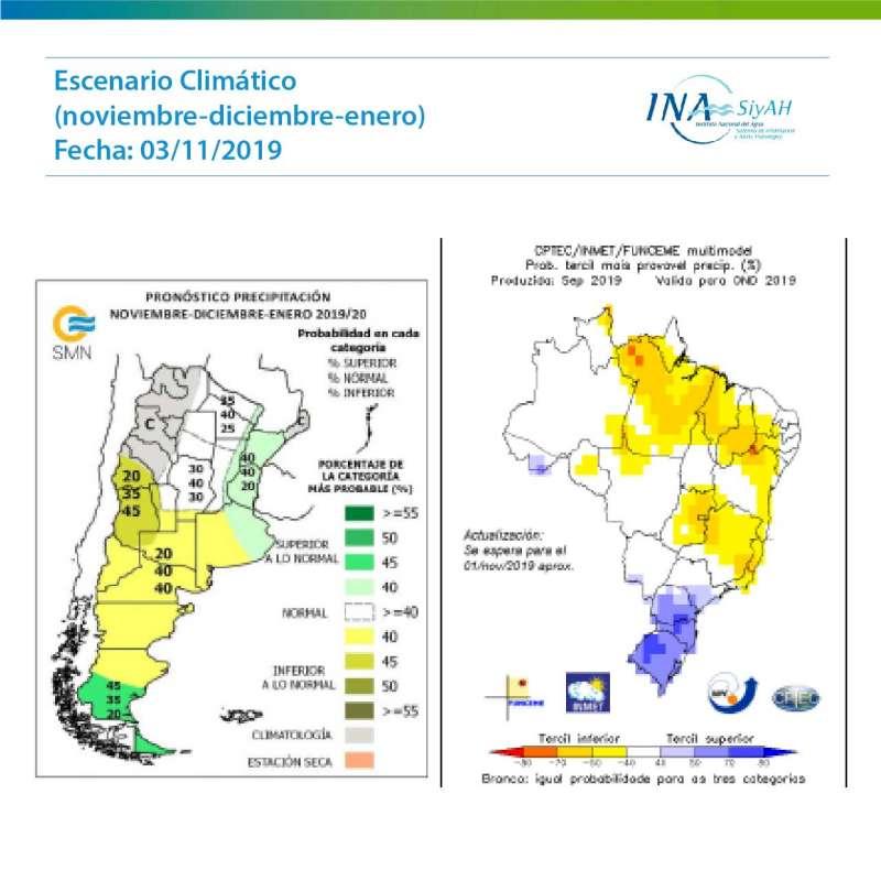 Perspectiva climática según informe INA