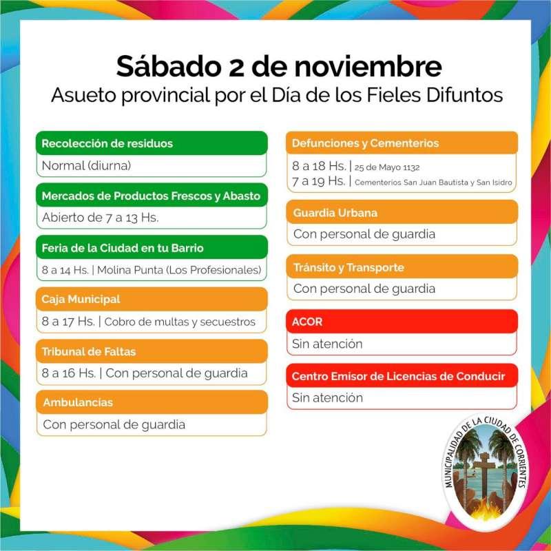El 2 de noviembre habrá recolección de residuos diurna como es habitual