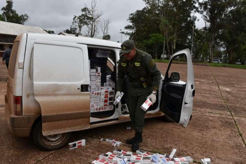 Decomisan 3.600 cartones de cigarrillos de contrabando