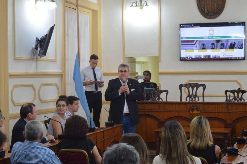 Se presentó la nueva página web del Concejo Deliberante
