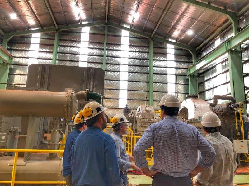Schiavi visitó la planta de FRESA, que en breve comenzará a producir energía eléctrica