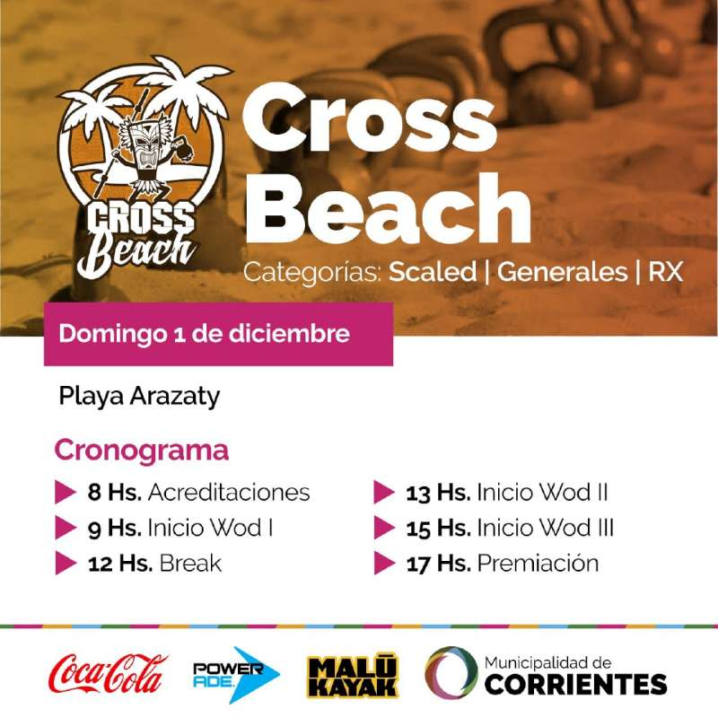 La playa Arazaty se prepara para una competencia de CrossBeach