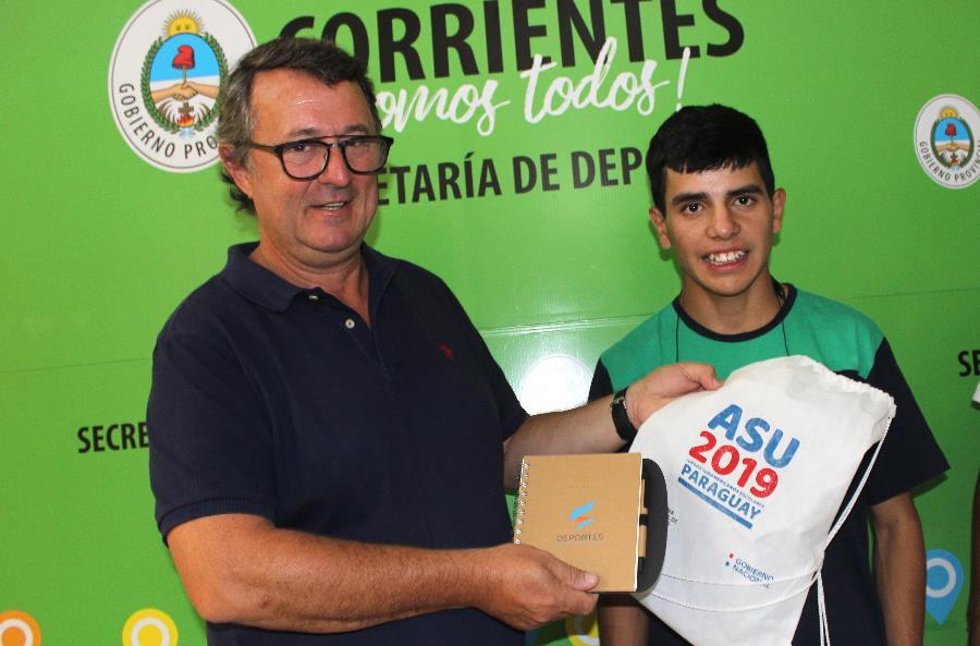 Pedro Peralta logró una medalla de Oro en el Sudamericano Escolar de Atletismo Adaptado