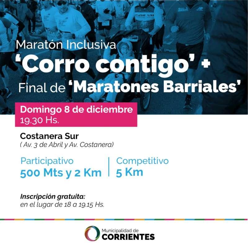 El domingo se realizará el cierre de las Maratones Barriales en Costanera Sur