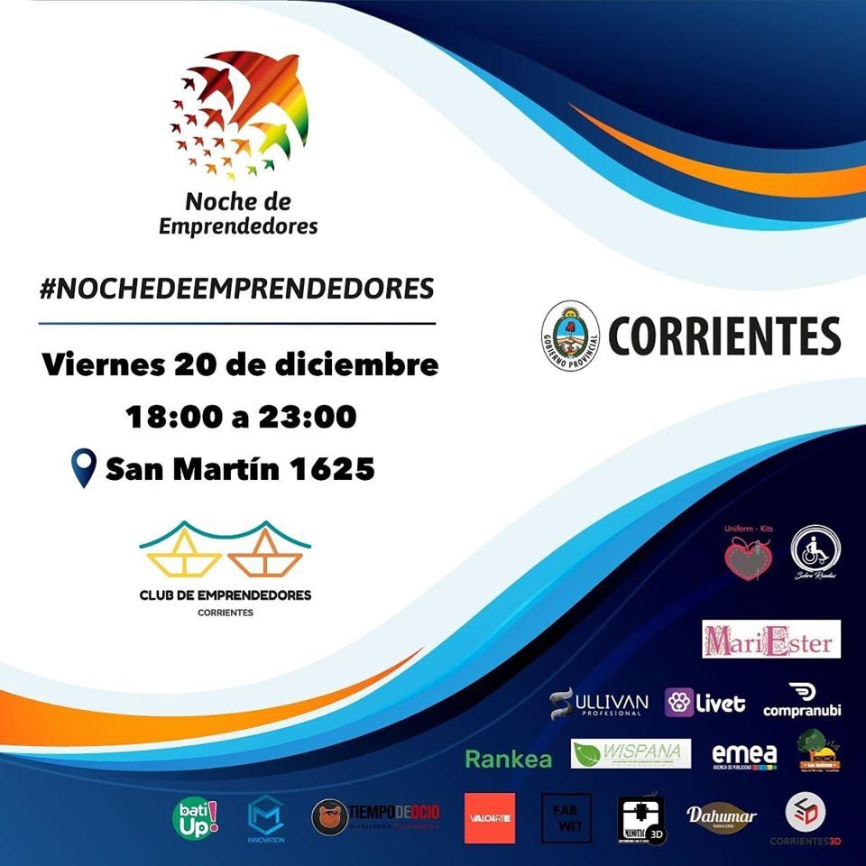 """""""Noche de emprendedores"""", una oportunidad para conocer a las startups correntinas"""
