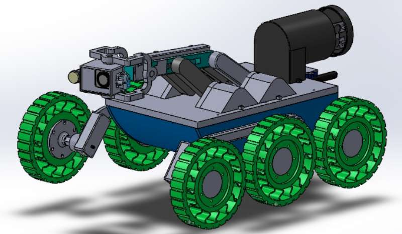 Diseñan un robot para el control de cañerías subterráneas