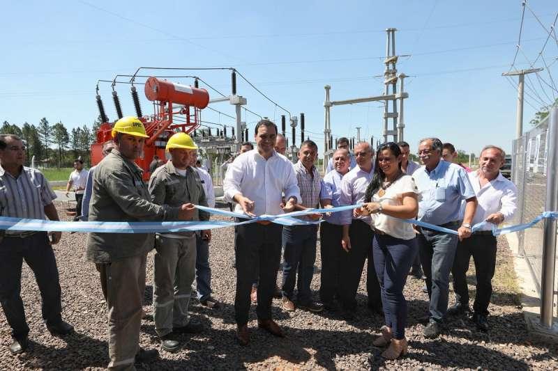 Valdés inauguró en Yapeyú una estación transformadora que otorga gran mejora energética a la región