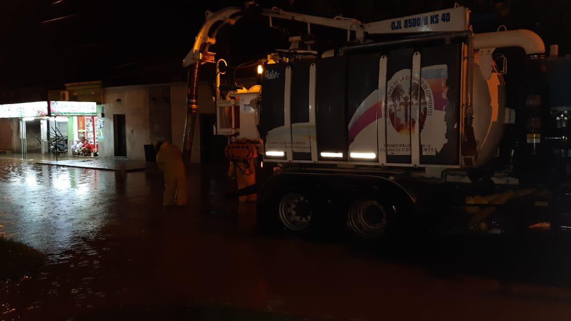 La Municipalidad realiza trabajos por las intensas lluvias