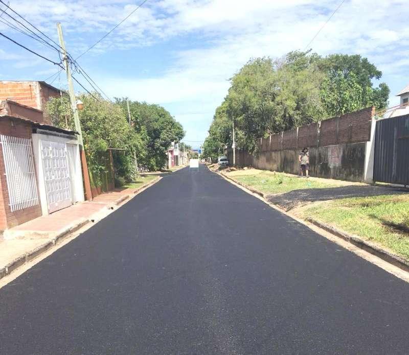 Vialidad Urbana concluyó  el asfalto de pasaje Pompeya y seguirá por calle Goya en el B° Progreso