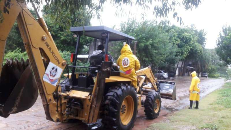 La Municipalidad realiza trabajos por las intensas lluvias en la ciudad