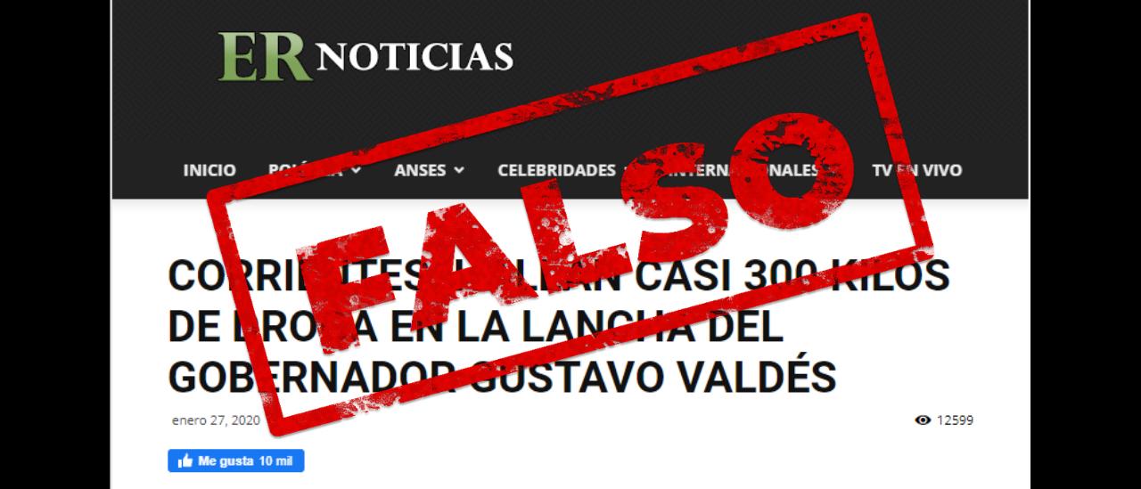 Es falso que encontraron droga en una lancha perteneciente al gobernador de Corrientes