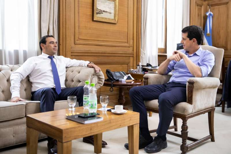 """Valdés con Wado de Pedro. """"Tenemos que retomar una agenda de desarrollo y crecimiento"""""""