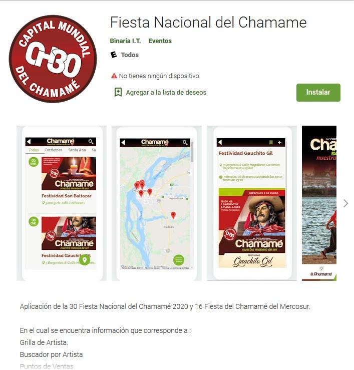 Está disponible la aplicación de la Fiesta Nacional del Chamamé