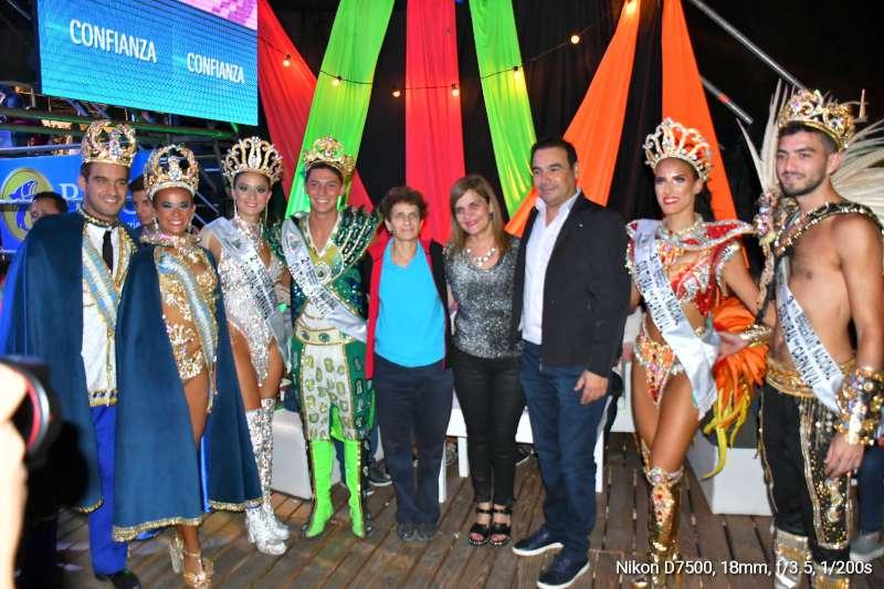 Valdés asistió al corsódromo con la Embajadora de Israel para promocionar el Carnaval correntino a nivel internacional