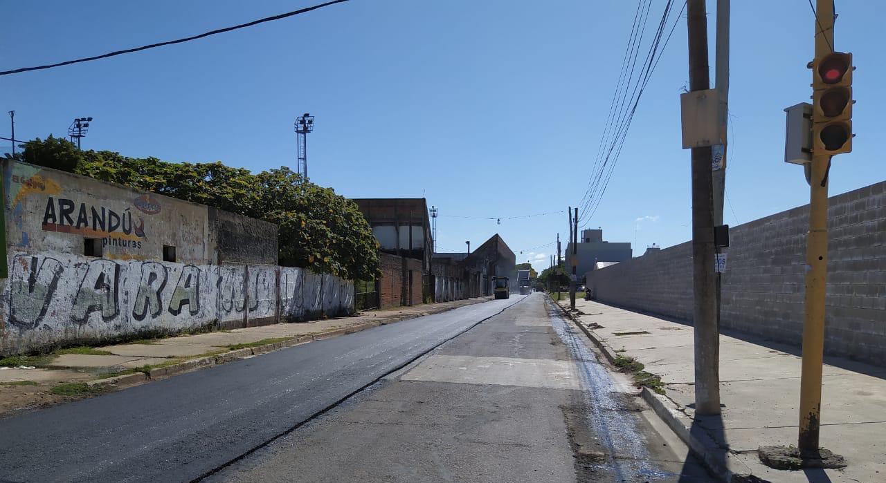 La Provincia trabaja en el reasfaltado de la avenida Teniente Ibáñez