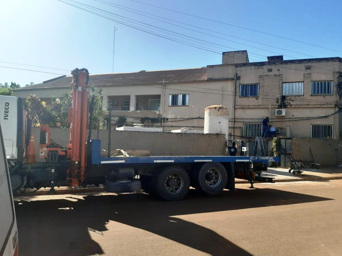 Nuevas instalaciones para suministro de oxígeno medicinal en el hospital de Santo Tomé
