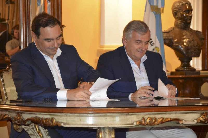 Valdés recibió a Morales y firmaron convenios de cooperación para el desarrollo del cannabis medicinal y del turismo recíproco entre ambas provincias