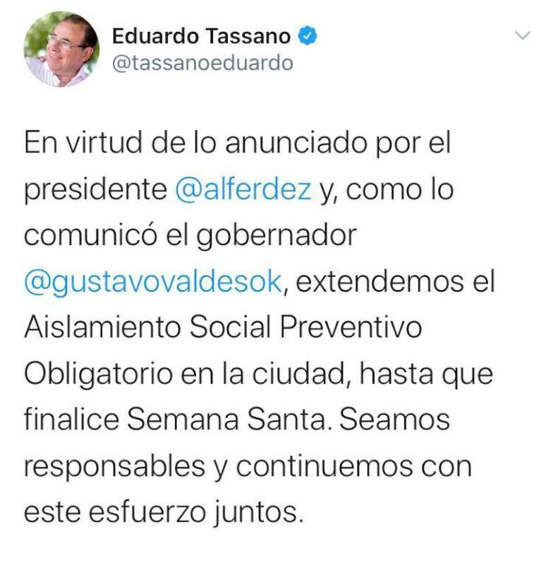 Valdés participó en la teleconferencia con el Presidente y confirmó que en Corrientes sigue el aislamiento social al igual que en todo el país