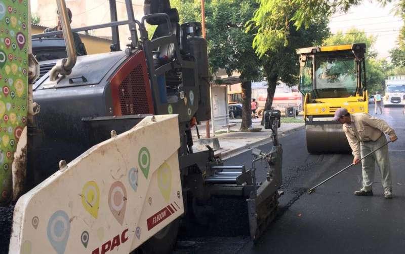 Vialidad Urbana terminó el recapado de Mendoza al sur y seguirá ahora por calle Paraguay