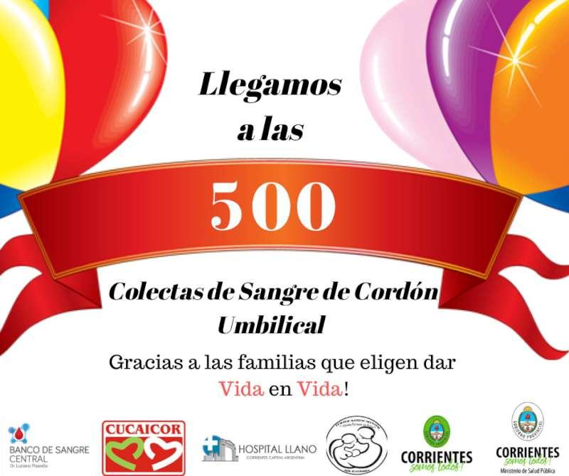 Corrientes superó las 500 colectas de sangre de cordón umbilical