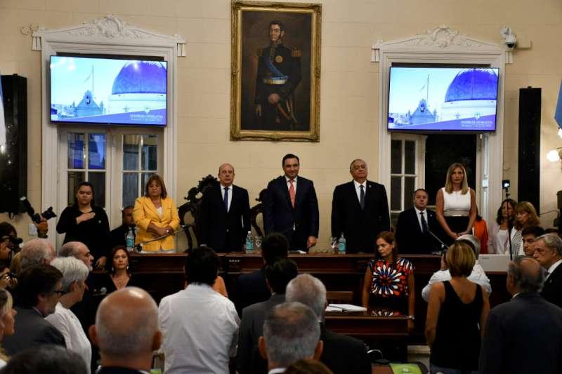 Valdés ponderó en su discurso el apoyo de Macri y plantea generar un vínculo positivo con Fernández