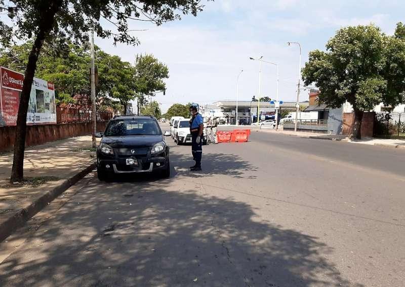 La Municipalidad desinfecta las unidades de Transito