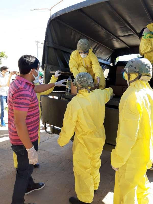 Gobierno Provincial, Municipio y fuerzas de seguridad, trabajan codo a codo en la asistencia integral al barrio San Marcos