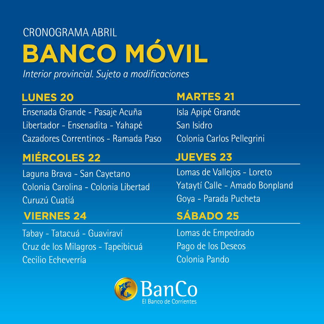 El BanCo Móvil recorrerá 30 localidades del interior esta semana