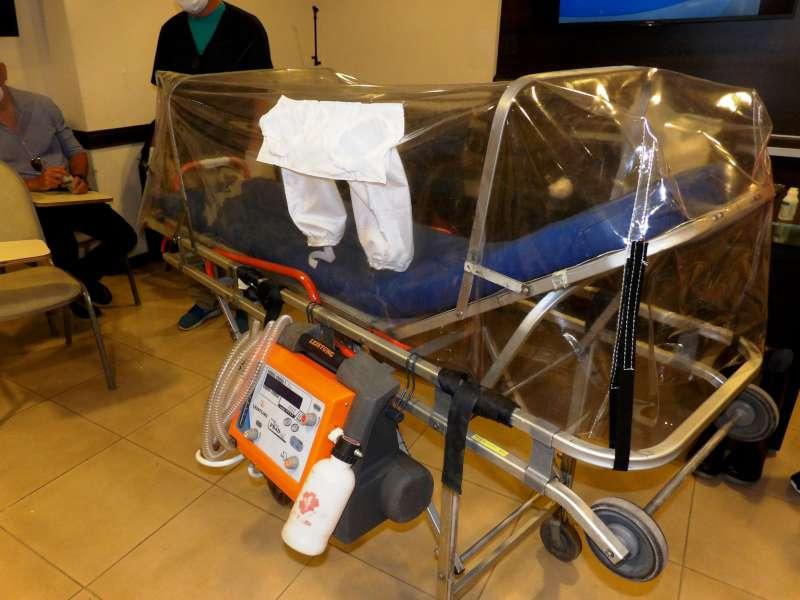 Salud capacitó a personal aeronáutico sobre traslados de pacientes con Covid-19
