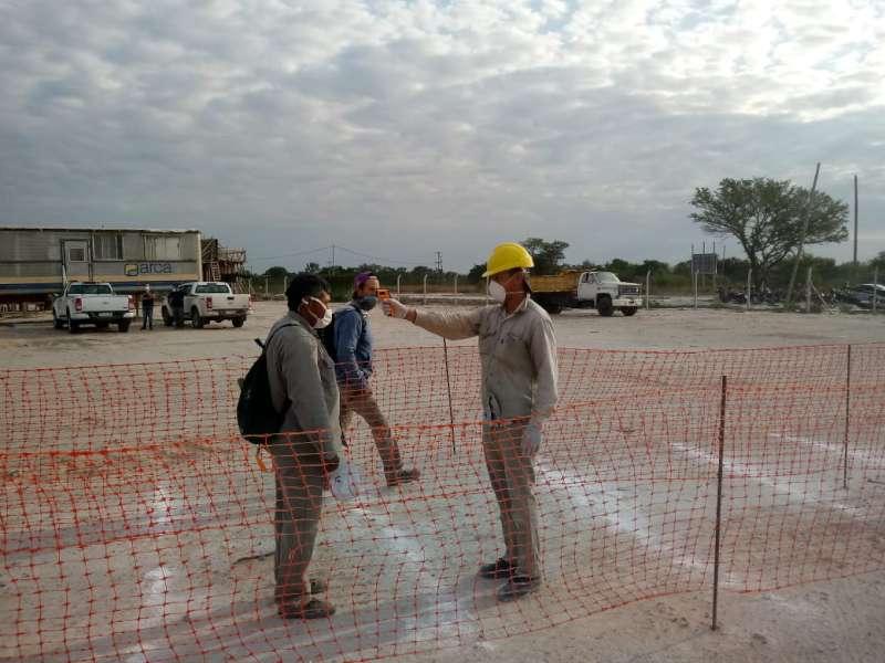 El Gobierno provincial retomó la construcción de la nueva unidad penitenciaria en San Cayetano con estrictos controles sanitarios