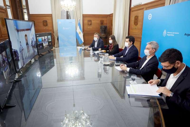 Valdés mantuvo videoconferencias con ministros de la Nación e intendentes sobre la evolución de las medidas sanitarias por el Coronavirus