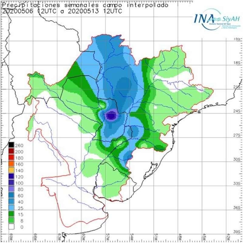 Sin lluvias esta semana sigue bajante de ríos