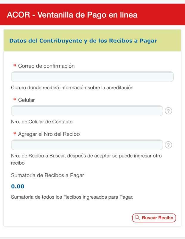 ACOR implementó la modalidad de pago en línea