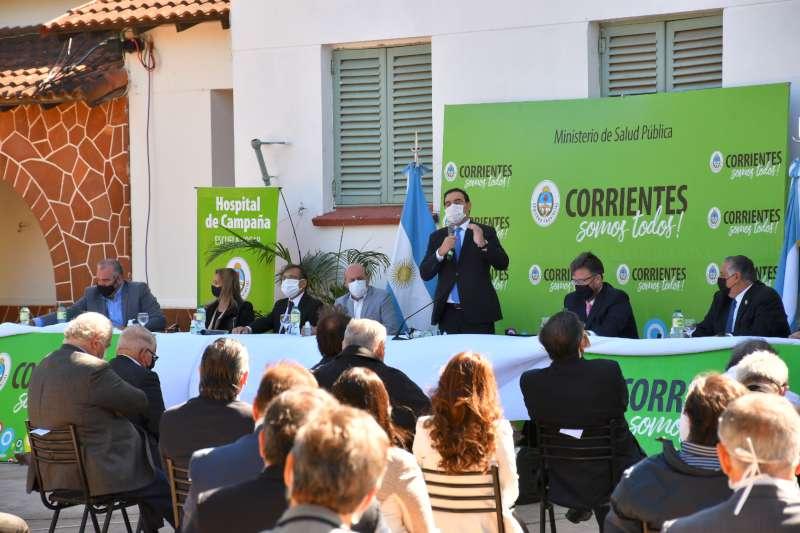El gobernador Valdés inauguró la primera etapa del Hospital de Campaña, exclusivo para atender casos de Coronavirus