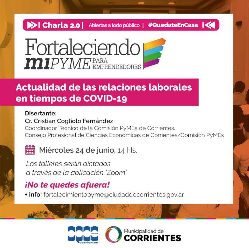 La Municipalidad continúa con las capacitaciones virtuales para emprendedores correntinos