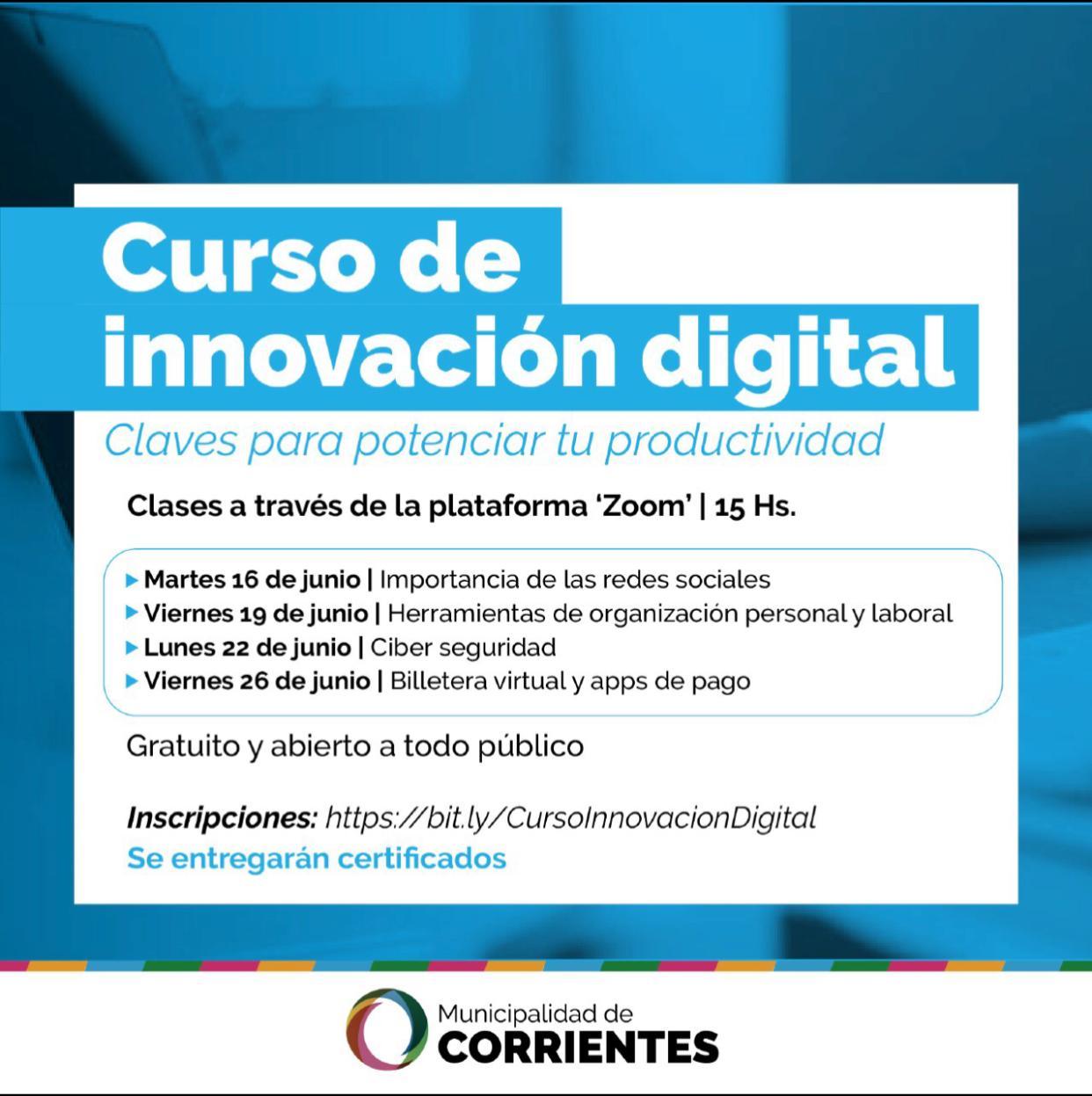 La Municipalidad brinda curso gratuito sobre innovación digital