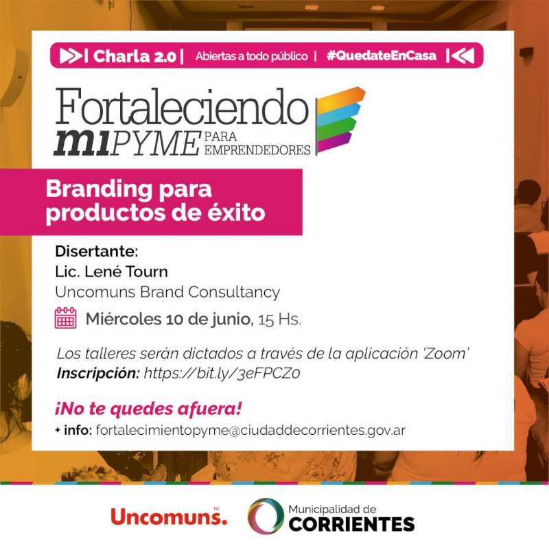 La Municipalidad realizará un nuevo taller virtual para emprendedores correntinos