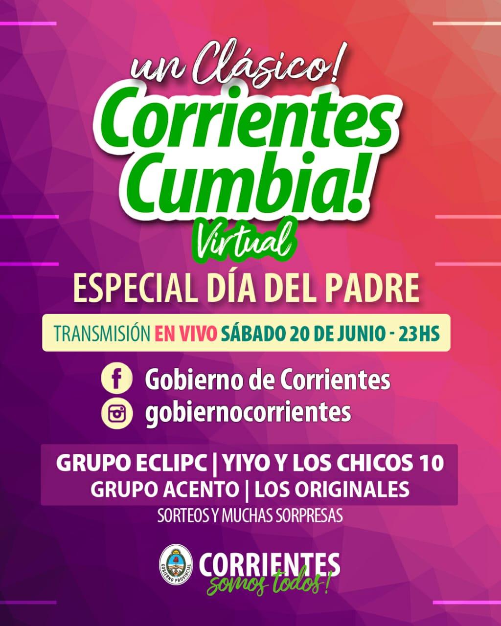 Corrientes Cumbia ofrecerá un Especial por el Día del Padre