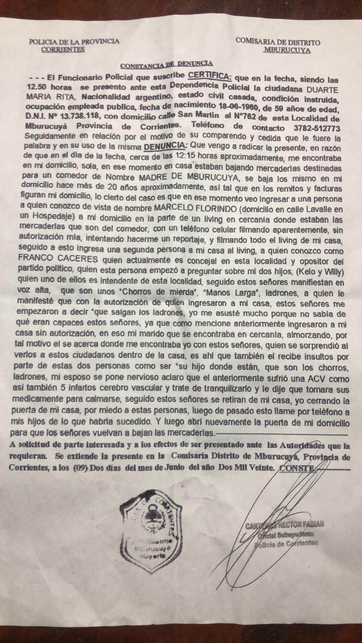 Mburucuyá y la media verdad del periodista militante de La Campora