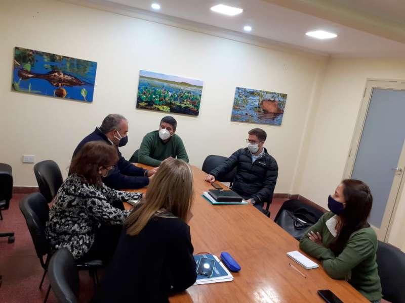 El ministro Polich se reunió con el intendente Cheme por obras de cloacas
