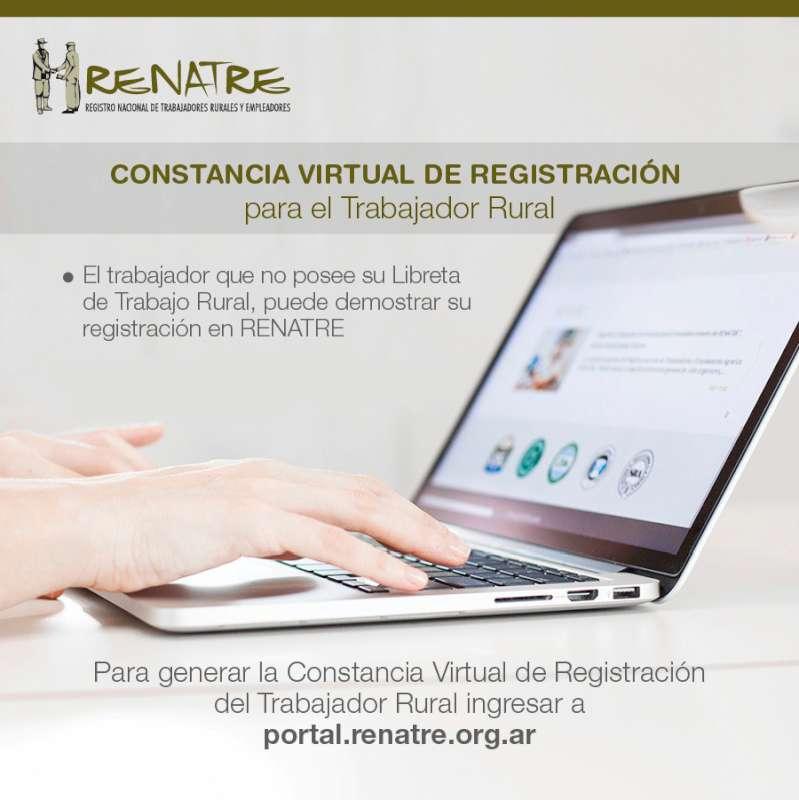Lanzan la Constancia Virtual de Registración del Trabajador Rural