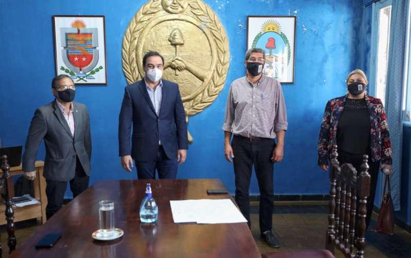Valdés se reunió en Saladas con el intendente Alterats, para reforzar los protocolos sanitarios