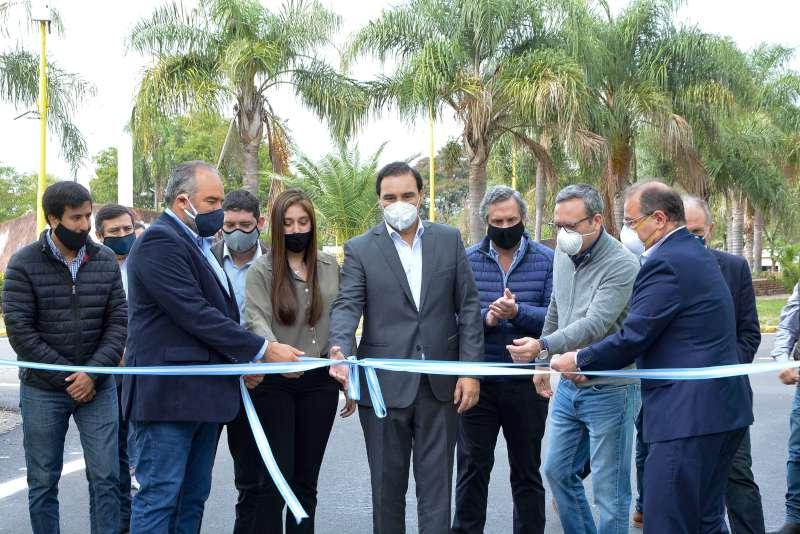 La Provincia inauguró la repavimentación de Avenida Pujol, ejecutada con equipos propios